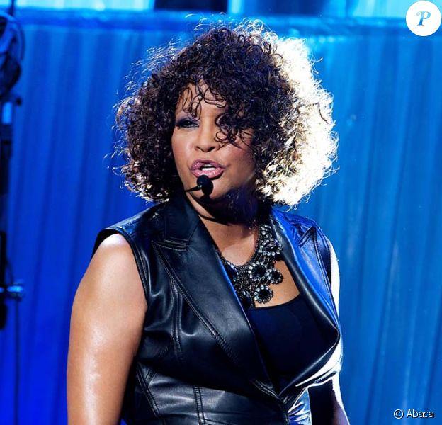 Whitney Houston sur scène à Berlin, le 12 mai 2010