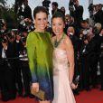 Evangeline Lilly et Michelle Yeoh lors de la montée des marches de Cannes. Le 15 mai 2010.