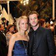 Gaspard Ulliel et Jordane Crantelle sur le tapis rouge à l'occasion de la projection du film La princesse de Montpensier, au  63e festival de Cannes. 16/05/2010