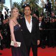 Dany Brillant au côté de sa girlfriend Nathalie Moury lors du 63ème Festival de Cannes en mai 2010