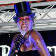 Soirée Belvedere avec concert live de l'étonnante Grace Jones au Baron, à Cannes, le 18 mai 2010 !