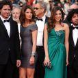 L'équipe de Carlos, avec notamment les acteurs Nora Von Waldstaetten, Alexander Scheer et Edgar Ramirez, le 19 mai 2010 durant le 63e festival de Cannes.