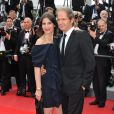 Géraldine Pailhas et son compagnon Christopher Thompson au 63e festival de Cannes. 19/05/2010