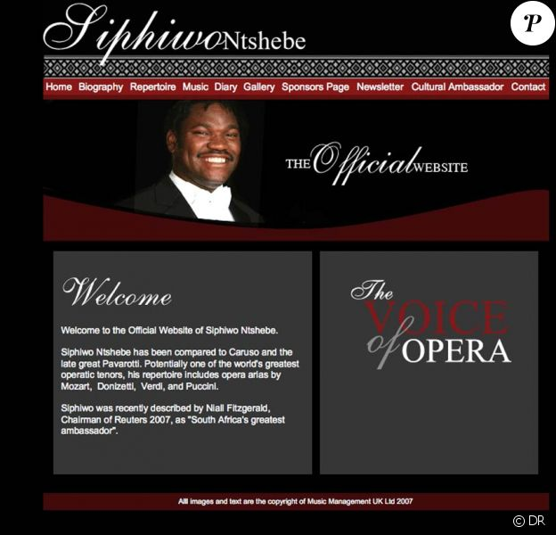 Siphiwo Ntshebe, ténor prometteur qui devait inaugurer la Coupe du monde 2010, est décédé le 25 mai 2010 dans sa 36e année...
