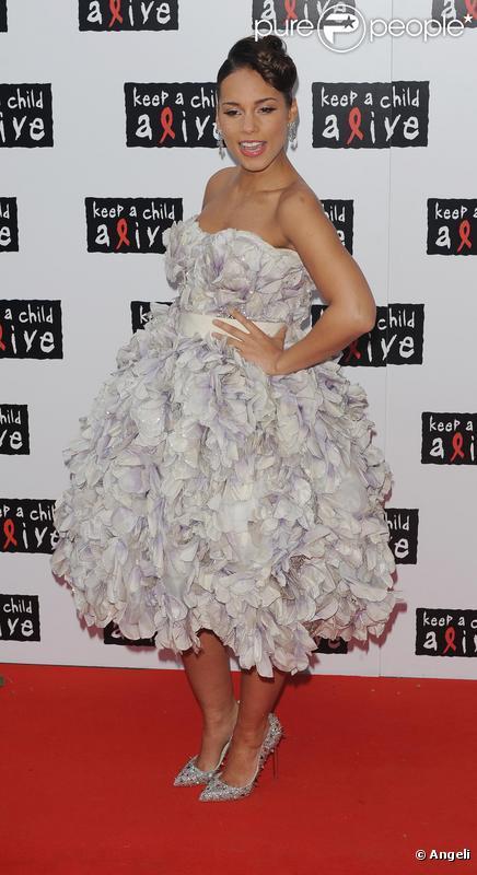 Alicia Keys au Keep A Child Alive Black Ball, le 27/05/2010.