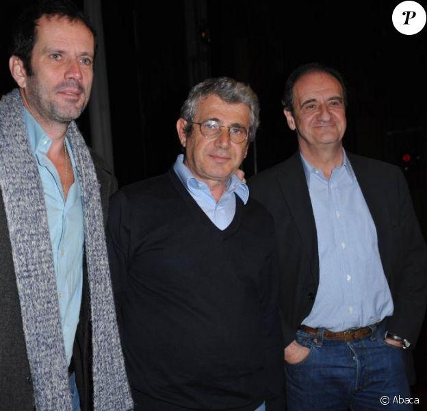 Christian Vadim, Michel Boujenah et Pierre Lescure à la conférence de presse du festival de Ramatuelle. 1/6/2010