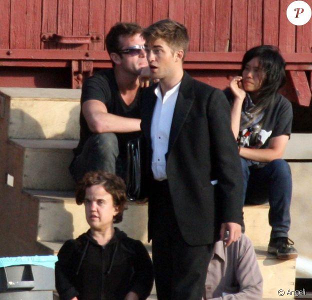 Robert Pattinson, sur le tournage de Water for Elephants, à Los Angeles, le 1er juin