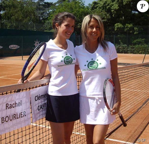 Tournoi des personnalités 2010, le 3 juin : Clémence Castel et Rachel Bourlier