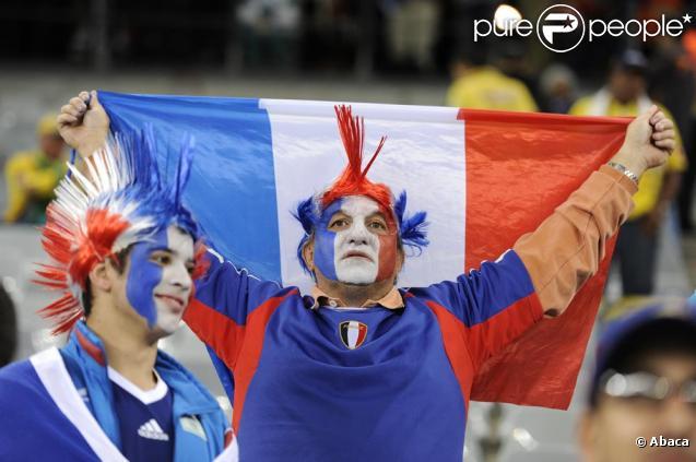 Les supporters des Bleus...