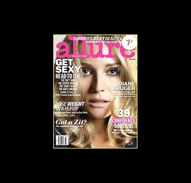 L'actrice allemande Diane Kruger en couverture du magazine Allure du mois de juillet 2010