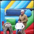 Harrison Ford et Liam le fils de Calista Flockhart en 2009
