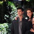 Taylor Lautner et Kristen Stewart lors du photocall de Twilight 3 à Rome le 17 juin 2010