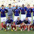 """""""L'équipe de France 2010, avant le coup de sifflet du match contre l'Afrique du Sud le 22 juin 2010 """""""