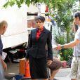 Janet Jackson sur le tournage du nouveau film de Tyler Perry à New York, le 3 juin 2010