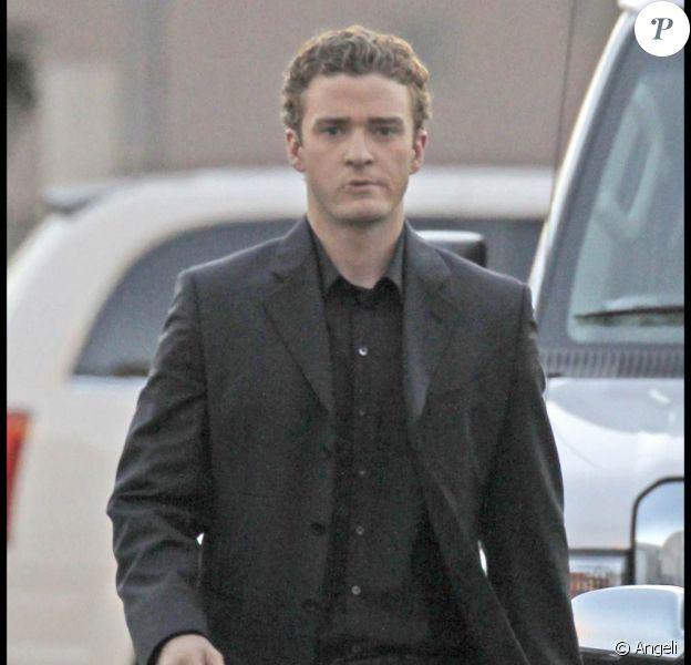 Justin Timberlake sur le tournage de The Social Network, de David Fincher.