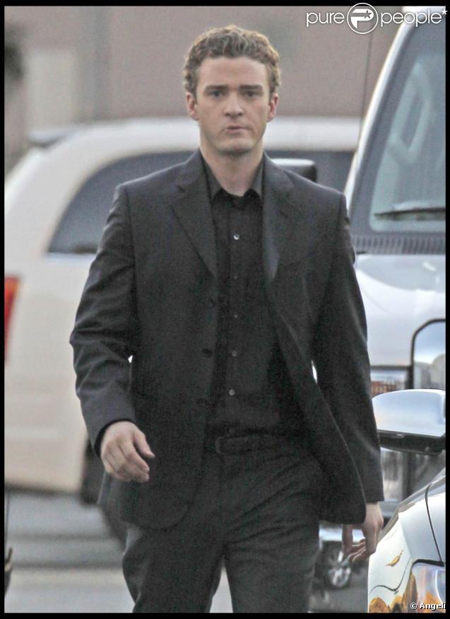 Justin Timberlake sur le tournage de  The Social Network , de David Fincher.
