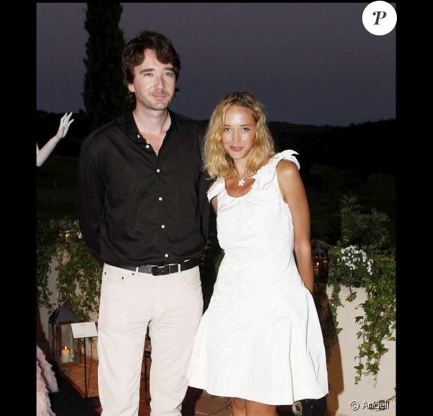 Hélènes de Fougerolles et Antoine Arnault à la Dior Party, au Country Club de Saint-Tropez, le 15/07/2010.
