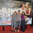Steve Le Roy, Nicolas Duvauchelle et la belle Vahina Giocante, à l'occasion de l'avant-première de  La blonde aux seins nus , qui s'est tenue à l'UGC Ciné-Cité des Halles, le 19 juillet 2010.