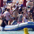 Naomi Campbell et son boyfriend Vladislav Doronin à Saint Tropez