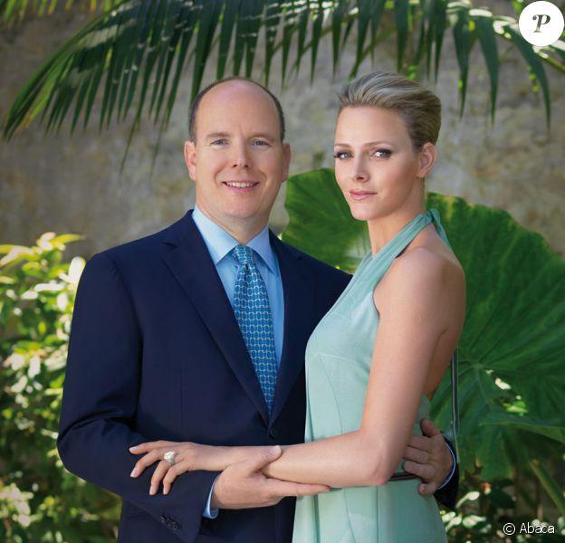 Albert de Monaco et sa fiancée Charlene Wittstock le 23 juin 2010