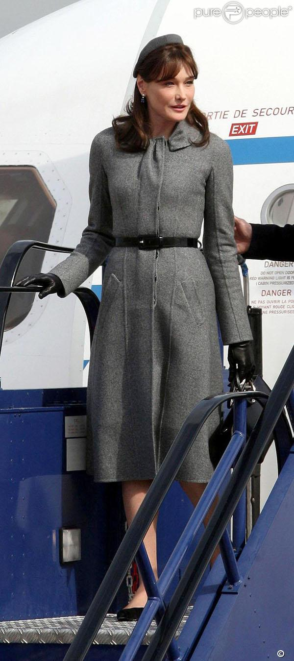 Carla Bruni en visite officielle en Angleterre