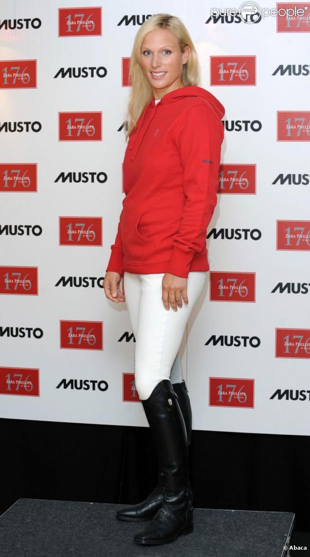 Zara Phillips présente sa gamme de vêtements ZP 176, à Londres, le 27 juillet 2010.