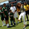 Eva Longoria à Los Angeles pendant une partie de foot à but caritatif