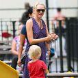 Naomi Watts et son fils Alexander Pete Schreiber sont allés dans un parc d'East Village à New York le 3 août 2010