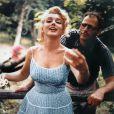Marilyn Monroe splendide, en compagnie de son dernier mari Arthur Miller.