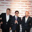 Dolph Lundgren, Sylvester Stallone et Jason Statham lors de l'avant-première de The Expendables au cinéma Le Grand Rex le 5 août 2010 à Paris