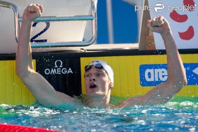 A 18 ans, Yannick Agnel a apporté à la France sa 1e médaille d'or lors des championnats d'Europe de natation à Budapest, le 9 août 2010.