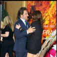 Avant-première d' Eat, Pray, Love  à New york, le 10 août : Javier Bardem et Julia Roberts