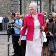 La reine du Danemark, Margrethe, se rend au 500e anniversaire de la flotte danoise à Copenhague le 10 août 2010