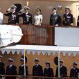 La famille royale du Danemark célèbre le 500e anniversaire de la flotte danoise à Copenhague le 10 août 2010