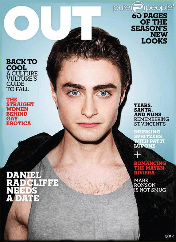 Daniel Radcliffe en couverture du magazine Out