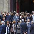 Claude Rich à la sortie des obsèques de Bruno Cremer, en l'église Saint-Thomas d'Aquin, dans le VIIe arrondissement de Paris, le 13 août 2010.