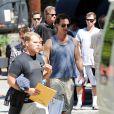Matthew McConaughey sur le tournage de The Lincoln Lawyer à Los Angeles, le 13 août 2010