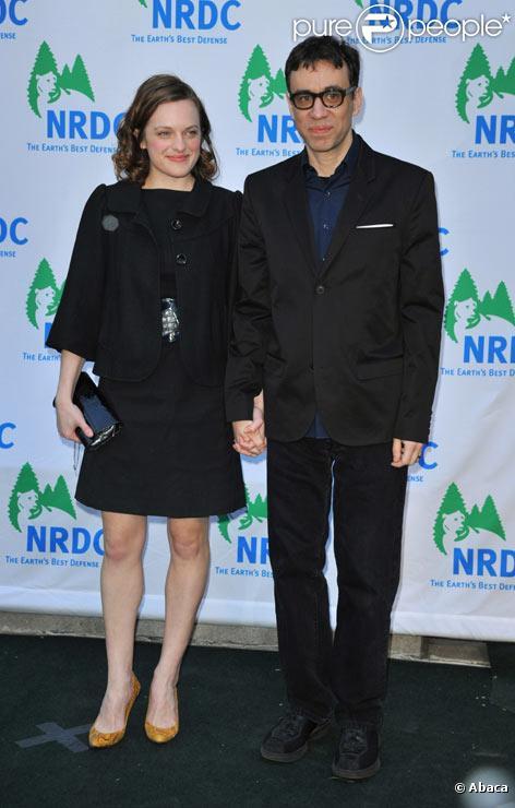 Elisabeth Moss et Fred Armisen à New York en mars 2009