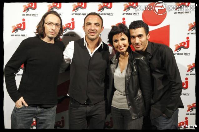 Florian Gazan, Nikos, Mustapha et Rachida Dati lors du 6/9 de NRJ