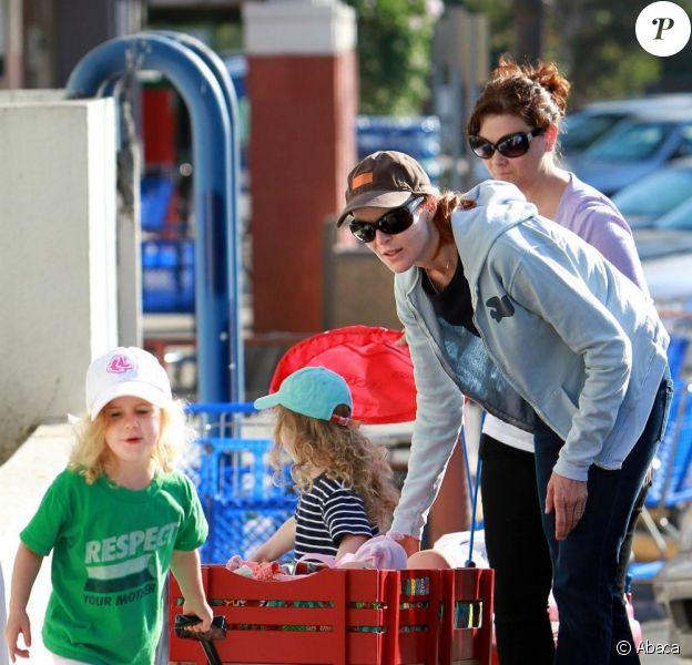 Marcia Cross et ses filles Eden et Savannah le 28 août 2010