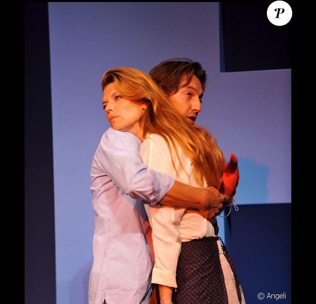 Gwendoline et Frédéric lors du filage de Kramer contre Kramer. 30/08/2010