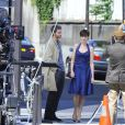 Anne Hathaway en plein tournage de One Day, à Paris
