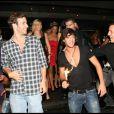 John, Anthony, Shine et Robin célèbrent et trinquent à leur notoriété éphémère (27 août 2010 au Six Seven de Paris)