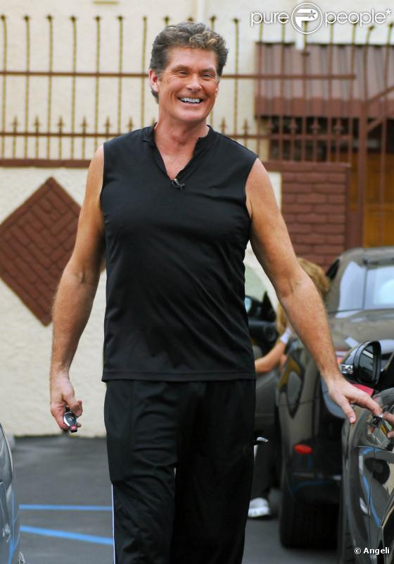 David Hasselhoff à la sortie des répétitions pour Dancing With The Stars, à Los Angeles. Septembre 2010