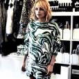 Nicole Richie faisant son shopping tendance pour le site mode whowhatwear.com.
