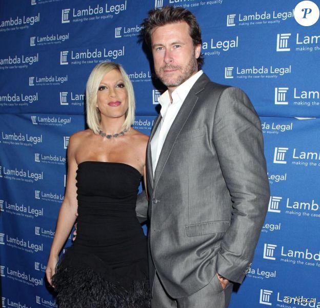 Tori Spelling et Dean McDermott assistent à la soirée des Liberty Awards, à Hollywood, jeudi 16 septembre.