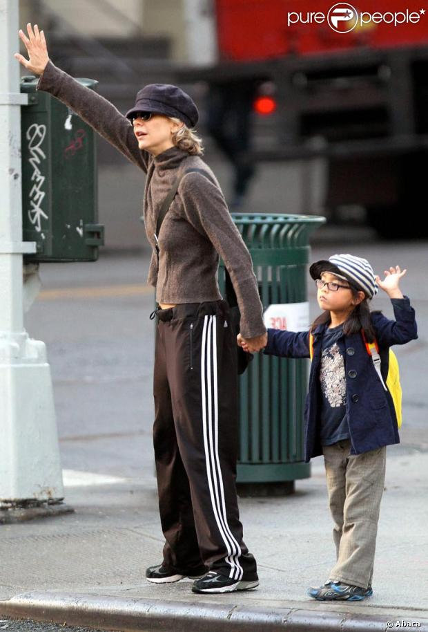 Meg Ryan et sa fille Daisy True à New York le 17 septembre 2010