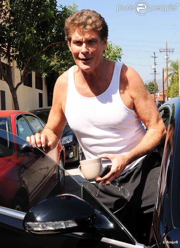 David Hasselhoff sort de répétition, à Los Angeles. Il s'entraîne pour l'émission Dancing With The Stars. 17/09/2010