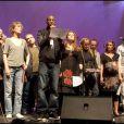 Jane Birkin, Abd Al Malik et Agnès Jaoui lors du concert Rock sans papiers le samedi 18 septembre en soutien aux travailleurs et familles sans papiers.