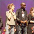 Jane Birkin et Abd Al Malik lors du concert Rock sans papiers le samedi 18 septembre en soutien aux travailleurs et familles sans papiers.